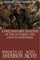 Cover for 'A Preliminary Analysis of the October 1, 1965 Coup in Indonesia'