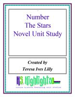 Cover for 'Number the Stars Novel Unit Study'