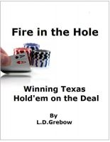 Cover for 'Fire in the Hole: Winning Texas Hold'em on the Deal'