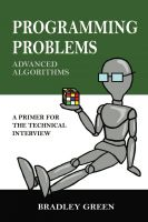 Cover for 'Programming Problems: Advanced Algorithms'