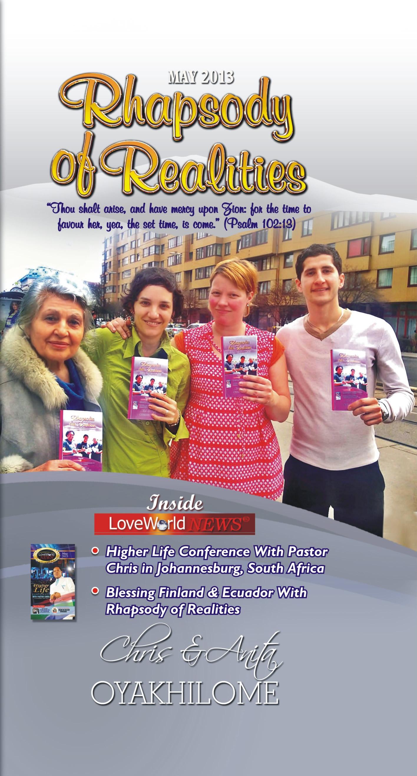 Pastor Chris and Anita Oyakhilome - Rhapsody of Realities May 2013 Edition
