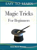Cover for 'Magic Tricks For Beginners'
