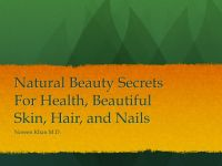 Cover for 'Natural Beauty Secrets for Healthy and Beautiful Skin, Hair and Nails'
