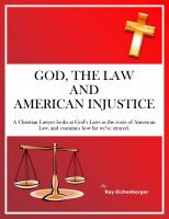 Cover for 'God, the Law, and American Injustice'