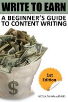 Cover for 'Write to Earn: A Beginner's Guide to Content Writing'