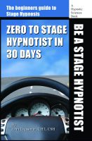 Cover for 'Zero to Stage Hypnotist in 30 Days'