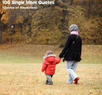 Cover for '100 Single Mom Quotes  (Quotes of Inspiration)'