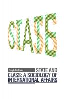 Cover for 'State and Class: A Sociology of International Affairs'