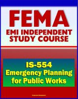 Cover for '21st Century FEMA Study Course: Emergency Planning for Public Works (IS-554) - including National Incident Management System (NIMS) Approach'