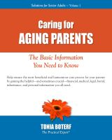 Cover for 'Caring for Aging Parents'