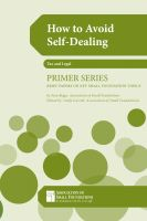 Cover for 'How To Avoid Self-Dealing'