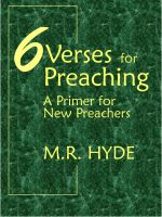 Cover for '6 Verses for Preaching: A Primer for New Preachers'