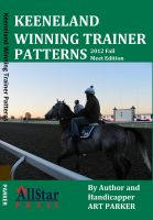 Cover for 'Keeneland Winning Trainer Patterns - 2012 Fall Meet edition'