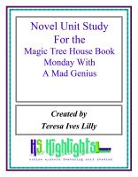 Cover for 'Novel Unit Study for the Magic Tree House Book Monday with a Mad Genius'
