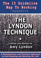 Cover for 'The Lyndon Technique: The 15 Guideline Map to Booking'