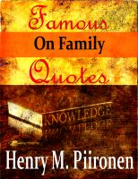 Cover for 'Famous Quotes on Family'