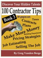 Cover for '100 Tips For Contractors - Book 3'