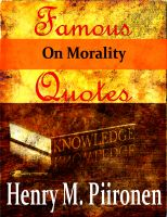 Cover for 'Famous Quotes on Morality'