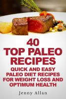 Cover for '40 Top Paleo Recipes - Quick and Easy Paleo Diet Recipes For Weight Loss'