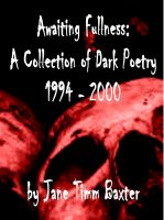 Cover for 'Awaiting Fullness: A Collection of Horror Poetry'