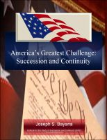 Cover for 'America's Greatest Challenge: Succession and Continuity'
