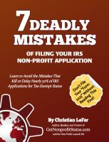 Cover for '7 Deadly Mistakes of Filing Your IRS Non-Profit Application'
