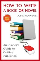 Cover for 'How to Write a Book or Novel, An Insider's Guide to Getting Published'