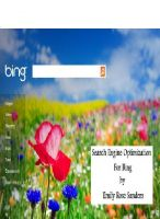 Cover for 'Search Engine Optimization For Bing'