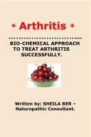 Cover for '* ARTHRITIS* BIO-CHEMICAL APPROACH TO TREAT ARTHRITIS SUCCESSFULLY. Written by SHEILA BER.'