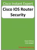 Cover for 'Cisco IOS Router Security'