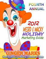Cover for '2012 Weird & Wacky Holiday Marketing Guide'