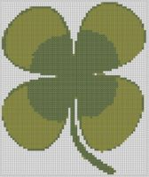 Cover for 'Four Leaf Clover Cross Stitch Pattern'