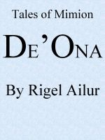 Cover for 'De'Ona'
