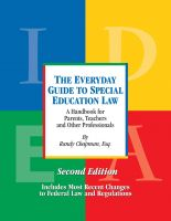Cover for 'The Everyday Guide to Special Education Law, Second Edition'
