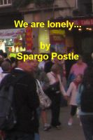 Cover for 'we are lonely...'
