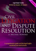 Michael Howard - Civil Litigation and Dispute Resolution - Vocabulary Series