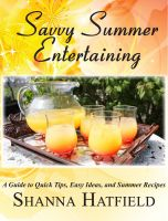 Cover for 'Savvy Summer Entertaining'