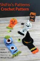 Cover for 'Halloween Hats & Scarfs Crochet Pattern #226'