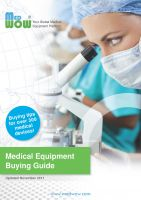 Cover for 'Medical Equipment Buying Guide'