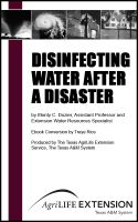 Cover for 'Disinfecting Water After a Disaster'