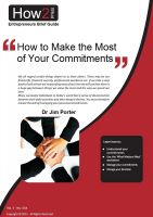 Cover for 'How to Make Most of Your Commitments'