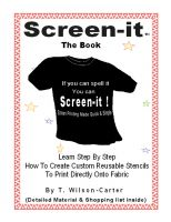 Cover for 'Screen–it ™ Do it yourself screen printing - If you can spell it, you can screen it!'