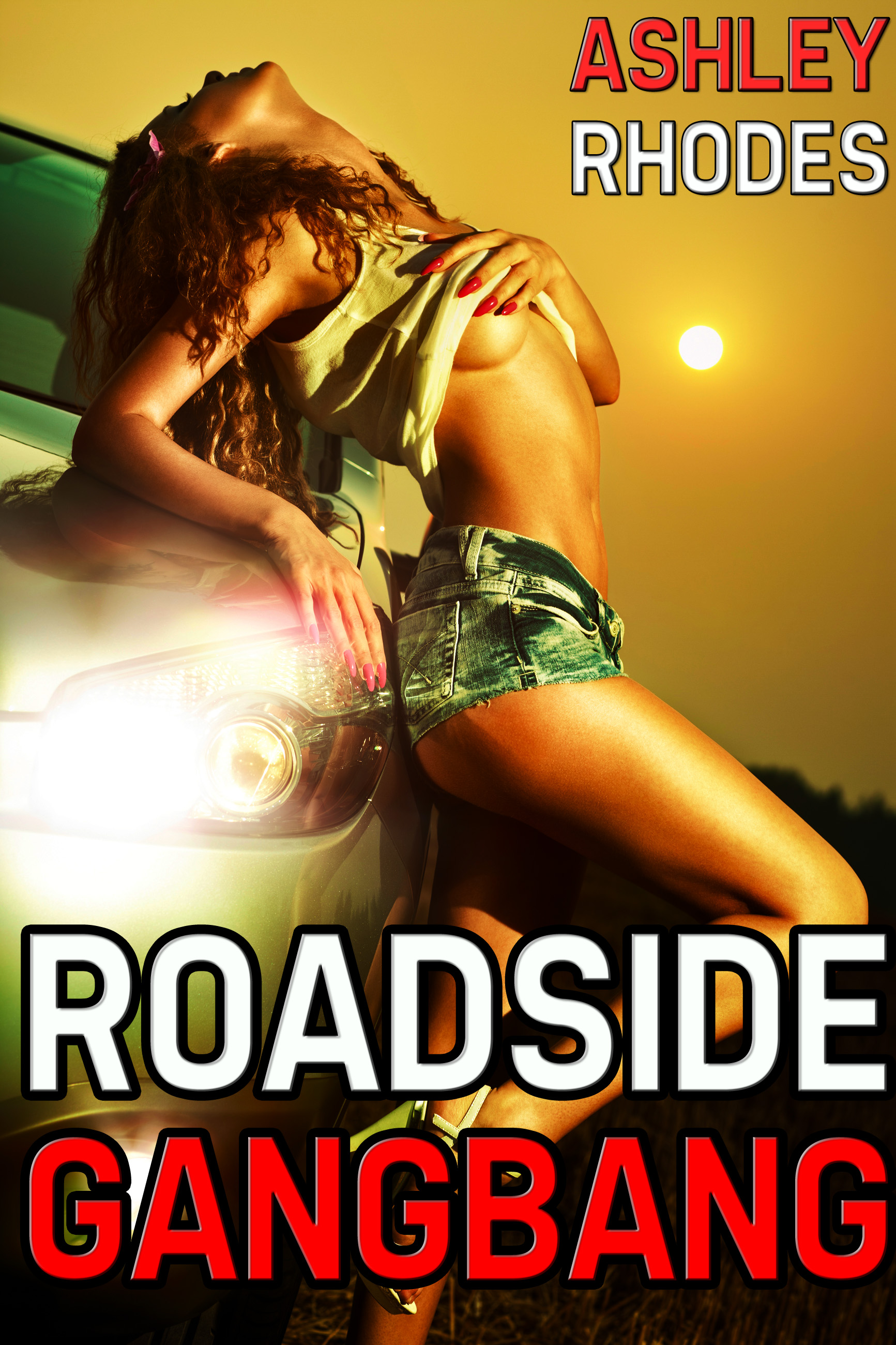 Ashley Rhodes - Roadside Gangbang (m/m/m/f Erotica)