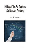 Cover for '141 Expert Tips For Teachers (Or Would-Be Teachers)'