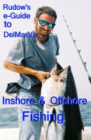 Cover for 'Rudow's e-Guide to DelMarVa Inshore & Offshore Fishing'