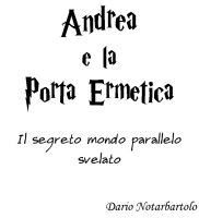 Cover for 'Andrea e la porta ermetica'