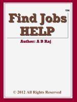 Cover for 'Find Jobs HELP'
