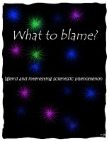 Cover for 'What to blame?'
