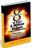 Cover for '8 Fundamentals to Earn a Million Dollars in Network Marketing'