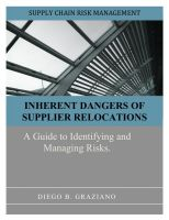 Cover for 'Inherent Dangers of Supplier Relocations'